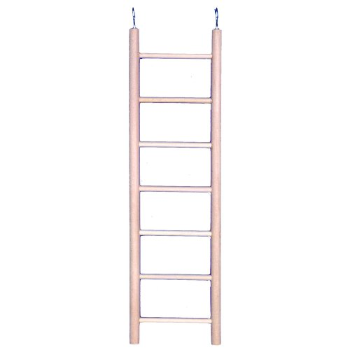 Penn-Plax 7-step Vogel-Leiter, aus Holz (Wooden Bird Ladder)