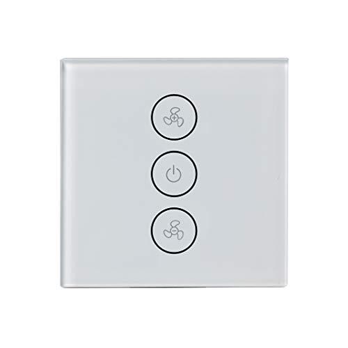 Interruptor de ventilador de techo inteligente de Wifi, temporizador remoto inalámbrico e...