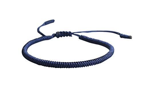 ® Glücks-Armband aus Tibetisch-Buddhistischen Handgemachten Seilknoten (Dunkelblau)