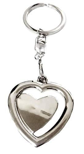 Portachiavi con ciondolo a forma di cuore con spazio per foto immagine personalizzata idea regalo per uomo donna