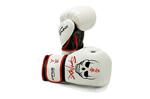 Sphinx Gear Blackstorm Skull Guanto da Boxe, Bianco, 10 oz