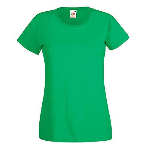Fruit of the Loom - Lady-Fit Valueweight T - Modell 2013 L,Kelly Green (Green Kelly)