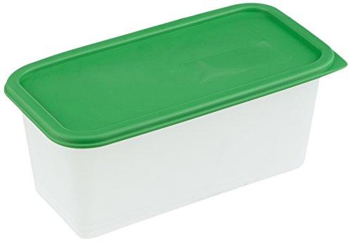 Rotho Domino 3er Set Vorratsdosen, Kunststoff (BPA-frei), grün / transparent, 3 x 1.5 Liter (23,3 x 11,8 x 10 cm)