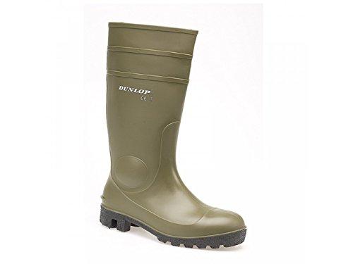 Dunlop - Stivali Wellington Unisex – adulto Verde (verde)