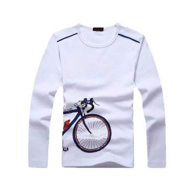Jungen Tops Langarm T-Shirt Kids Basic Bluse Baumwolle Sweatshirt Rundhalsausschnitt Uniform Tee Jungen Mädchen Kleidung Gr. 8 Jahre, weiß (Mädchen Schule Uniform Hose)