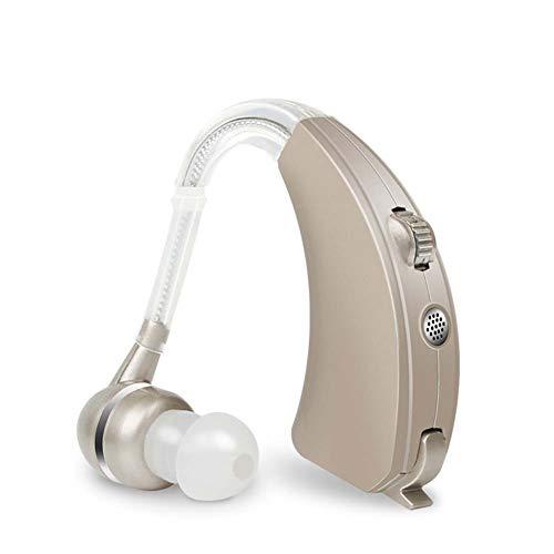 LPRWEC Sound-Verstärker für Senioren Silbergrau Die Alten Kinder Sprachverstärker Rauschunterdrückung Drahtlose tragbare Mini-Luftleitung Mehrkanal-Audio-Verbesserungs-Tools