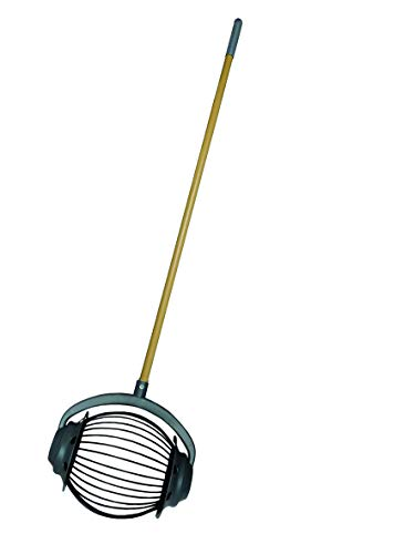 UPP Rollsammler GROß MIT 105cm HOLZGRIFF/Obstsammler/Apfelsammler/Nusssammler/Fallobstsammler/Roll/Blitz/Obstpflücker/Walnusssammler/Tennisballsammler/Golfballsammler
