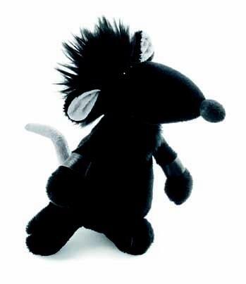 Preisvergleich Produktbild Rock-Star-Baby Stofftier Ratte in schwarz - Perfektes kuscheltier für jedes Kinder-Bett RSB