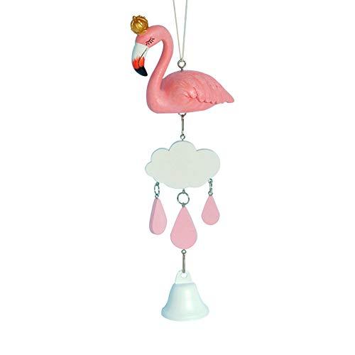 Fansi Exquisite und Elegante Flamingo Windspiel Kreative Dekoration Wohnaccessoires süße Mädchen Herz Dekorative Windspiel Zuhause Wand Zimmer Windspiele(1Pcs)