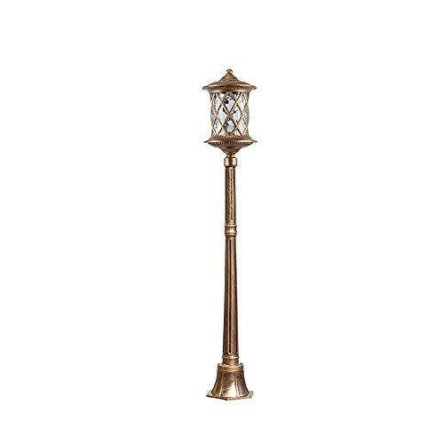 Familien-licht-stehlampe (Continental Wasserdichte Aluminium Glas Garten Lichter Rasen Lichter Moderne Einfache Außenlaterne Stehlampe Straßenpfosten Licht Park Villa E27 Dekoration Beleuchtung (Farbe: Bronze-210 cm))
