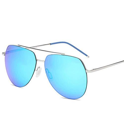 SCJ Herren Outdoor Freizeit Herrenbrille Polarized Retro Classic Wild Multifunktionale Sonnenbrille (Farbe: Blau)