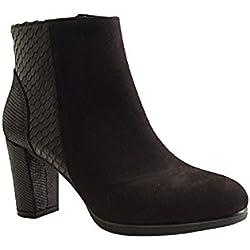 Reqins, Damen Pumps , schwarz - schwarz - Größe: 38
