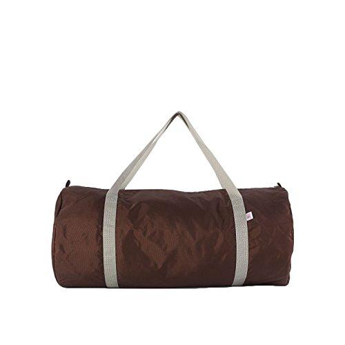 american-apparel-nylon-sport-gym-tasche-einheitsgrosse-braun-silber