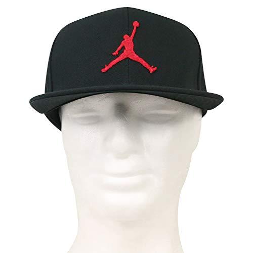 3d5e041a8cc35 Nike Jordan PRO Jumpman Snapback Hat, Black/Gym Red, MISC