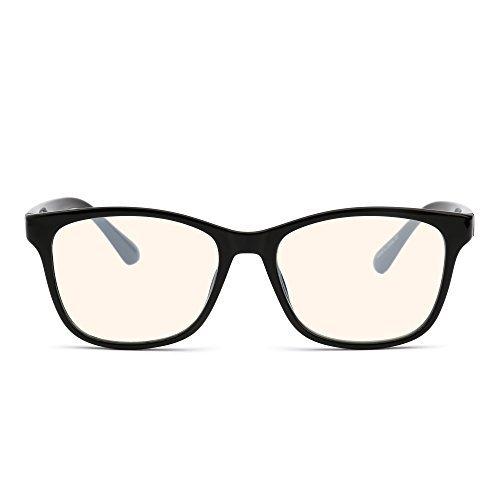 Blaues Licht blockiert Computer Lesebrille,Reduzieren Auge Belastung Anti Blendung klar Linse Video Brillen Damen Herren Schwarz
