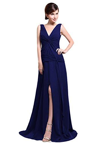Bridal_Mall - Robe - Trapèze - Sans Manche - Femme Multicolore - Koenigsblau