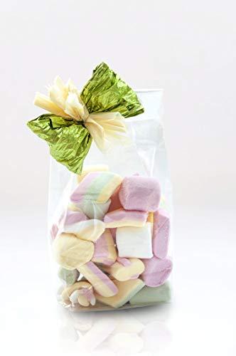 Italpak- Buste Sacchetti Trasparenti per Alimenti Fondo Quadro 50 pz, 10+6x32 cm, Colore 6x32, X000000103207