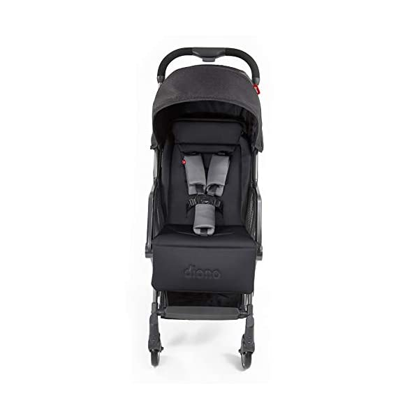 Diono Traverze Compact Luggage-Style Stroller, Black Cube Diono Luggage Style Stroller: Suitable from birth up to 15 kg the Diono Traverse is the original luggage style stroller to make family travel easy Ultra Lightweight: Only 5.6 kg to help you glide through the world, with neat pull along handle just like your luggage! Super Compact Fold = Airplane Friendly: True one hand fold makes traverse super compact to fit most overhead bins 2