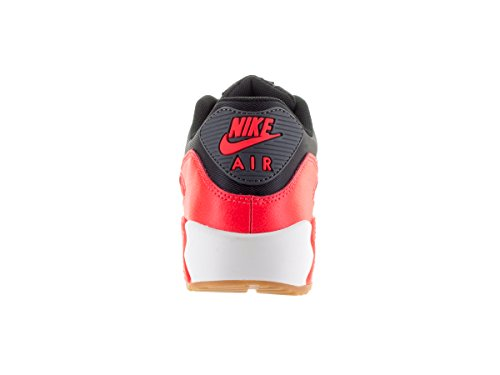 Nike Wmns Air Max 90 Essential, Scarpe sportive, Donna Negro (Black / Dark Grey-Brght Crmsn-Sl)