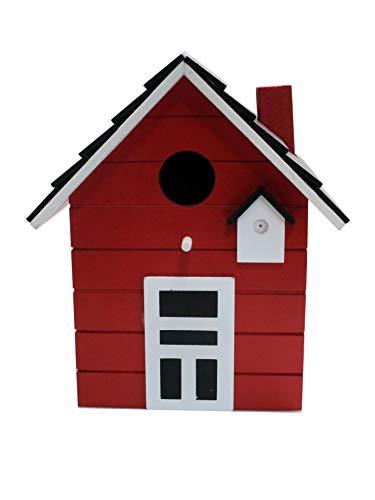 Vogelhaus Nistkasten 20cm bunt (rot)
