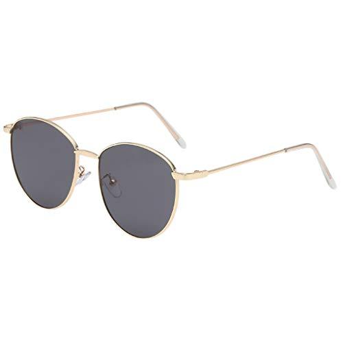 fazry Damen Herren Mode Persönlichkeit Unregelmäßige Form Metall Rahmen Sonnenbrille Vintage Punk Style Brille(B)