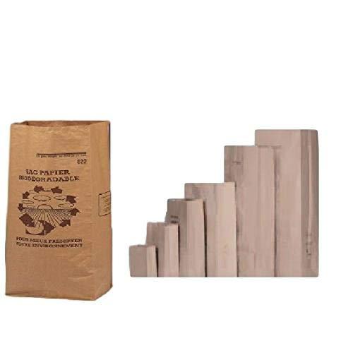 lot de 10 Sacs 6 Litres 1 FEUILLE déchets verts et organiques en papier kraft biodégradable compatible compost , petit sac pour dechets verts , sac jardin ramassage herbe, végétal compostable