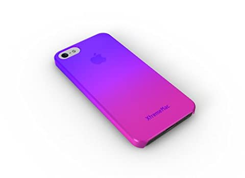 XtremeMac IPP-MFN-33 Microshield Fade Schutzhülle für Apple iPhone 5 violett/pink