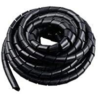 MSRKart 8mm Spiral Wrapping Band Black 10M for Wires