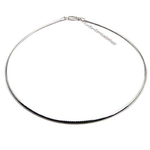 Omega-3-minze (46 cm Ausziehbar Italienisches Sterling Silber 925 Kette Omega Halskette 2 mm)