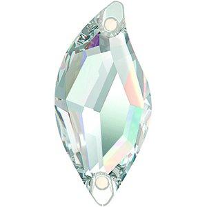 Swarovski Strasssteine zum Aufnähen Elements Diamond Leaf 30.0 x 14.0mm (Crystal), 1 Stück -