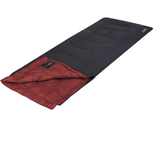 XL Schlafsack extra lang ROT 220x80cm 2-lagig bis -5C° mit Transportbeutel weiches Cotton-Touch • Outdoor Decke Mumienschlafsack Deckenschlafsack Zelt Camping Bett