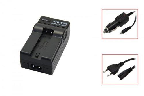 PATONA Akku-Ladegerät passend für Minolta NP-700 schwarz, Konica Minolta Dimage X50 / X60, Pentax Optio Z10, Samsung Digimax L77 (Akku-ladegerät Z10)