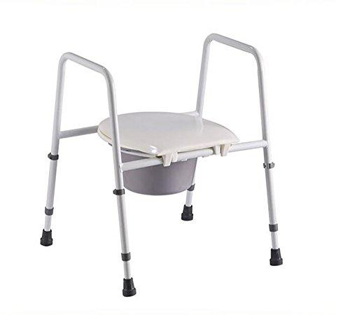 PIGE Extraíbles mujer embarazada sillas sentado WC Mayores reposabrazos Silla Aumento Reforzado Tipo engrosamiento de acero inoxidable Baño