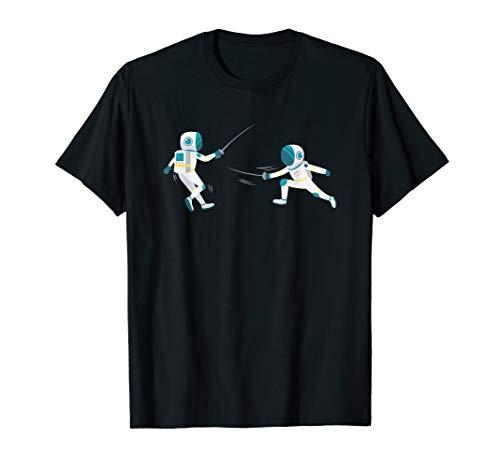 Astronauten Fechten Duell T-Shirt
