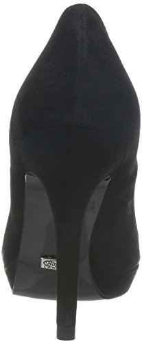Buffalo London 9669-177 BL KID SUEDE 115652, Scarpe eleganti donna Nero