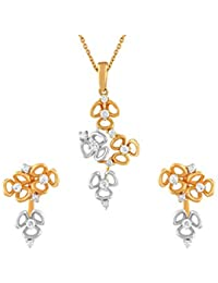 TBZ - The Original 18KT Two colour Gold and Diamond Jewellery Set for Women