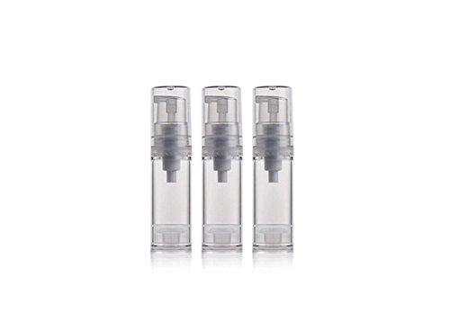 3 Stück/5 Stück/10 Stück 5ML/0.17oz Transparent Empty Refillable Airless Vacuum Pump Bottle Vial Holder Case Container Pot Jar for Shower Gel Lotion Essential Oil Shampoo (5 Stück) -