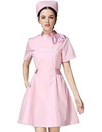 e96df601823 ESENHUANG Unisex Medical Cloth Coat Clothing Scrubs Hospital Uniform Short  Sleeve Nurse Clothing Medical Suit Lab