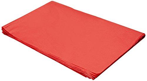 Sadipal 50x70 - Bolsa con 25 hojas de papel seda, 50 x 70, color rojo