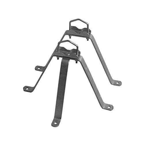 A.S.Sat Feuerverzinkter Stahl Wandhalter 2-teilig 30 cm abstand für Masten 42 bis 60mm