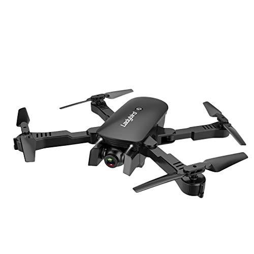 Bascar rc drone quadricottero 2,4 ghz 4 ch 4 k wifi optical flow dual camera con angolo regolabile 6 assi giroscopio controllo gesto adatto per principianti, nero
