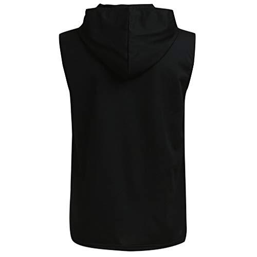 Beonzale Herren Fitness Muskeldruck Ärmelloses Bodybuilding trocknende Weste Tops Blusen Diverse Farben auswählbar Reine Farbe Tailored Tank top - Tailored Dress Chino