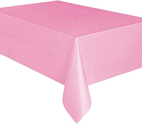 Unique Party Supplies Plastik Tischdecke Pastell Rosa