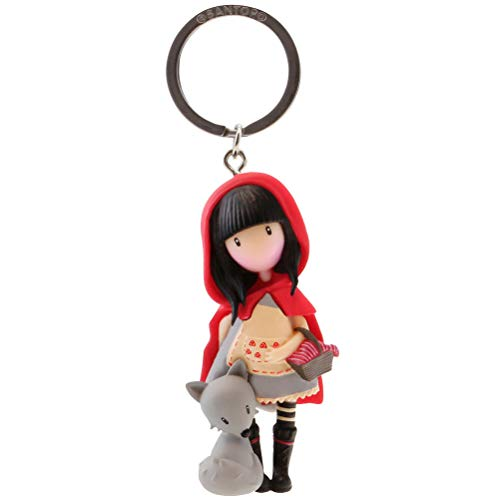 gorjuss Portachiavi bambola Little rete Riding Hood colore rosso