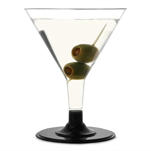 12-x-clear-plastic-disposable-martini-glasses-with-a-black-base-volume-150ml