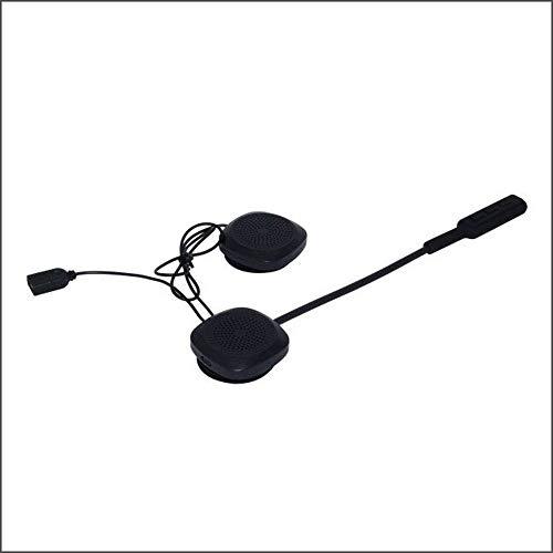 MH03 Cuffia casco moto Cuffia vivavoce moto per musica GPS (nero)