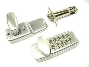 Mini serrure de porte avec bouton poussoir numérique Chrome satiné