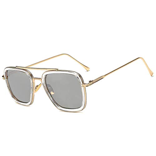 Asolym Trendbox Europa und Amerika Sonnenbrillen Herren und Damen Klassische Outdoor Sport Sonnenbrillen Unisex UV400 Reisebrillen Herren und Damen Sonnenbrillen,E