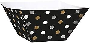 Amscan 147003negro Buffet de papel cuadrado cuencos