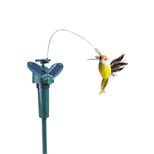 Nicolarisin Solar Power Bird, Tanzen Fliegen Flattern Simulation Vogel Gartendekoration oder Home Office Garten Hof Pflanzen Blumen Patio Landschaft Außerhalb Dekor -